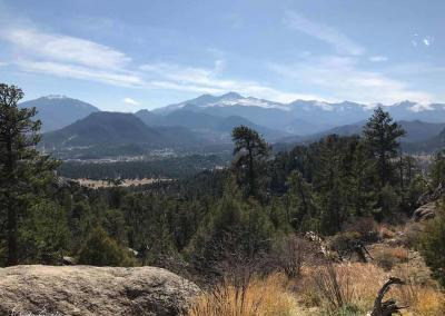 Looking back at Rocky Mountain National Park